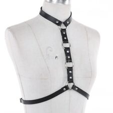 Sissy Women's Adjustable Faux Leather Body Chest Harness Club Wear Belt Costume
