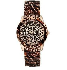 NEW AUTHENTIC GUESS Rose Gold Leopard-Print Women's WATCH U0425L3 w BOX $185