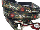 Marines The Few The Proud Camo Ribbon Leash, 1 inch width, choose your length
