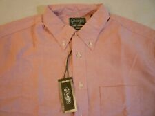 GITMAN BROS VINTAGE Red Oxford Shirt New WO Tags $165 XL Made In USA
