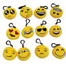 Emoji Smiley Stuffed Plush Toy Key Chain Emoticon Yellow Soft Cushion Keyring LJ