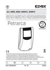 """6009 ELVOX - Monitor per videocitofono 2 fili 3,5"""" b/n bianco modello Petrarca"""