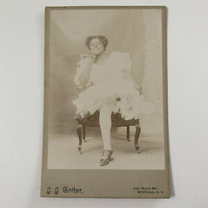 Antique Cabinet Card Photo Beautiful Black Actress ID Grace Harris Buffalo NY
