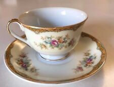 VINTAGE Tea Cup and Saucer with flowers Gold China Made in Japan