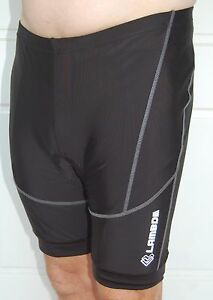 Lambda Cycling Bike Knicks padded shorts BIG SIZE Mens Womens Black 2XL 3XL 4XL