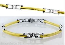 Gold Bracelet Womens Stainless Steel & Gold Plate Fashion Bracelet