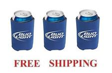 BUD LIGHT 3 BEER CAN WRAP COOLERS KOOZIE COOLIE HUGIE NEW BUDWEISER