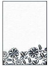 """Nellie Snellen Embossing Folder """"Flower Border"""" Hsf002 For Cards"""