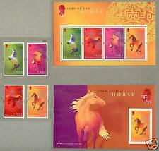 Hong Kong 2002 China Lunar New Year Horse Stamp + 2 S/S