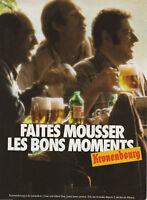 Publicité ancienne bière Kronembourg 1982 issue de magazine