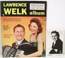 Lawrence Welk Magazine and Real Photo Postcard - Signed by Welk & Others