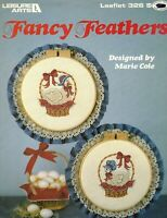 Fancy Feathers Counted Cross Stitch 2 Patterns By Leisure Arts