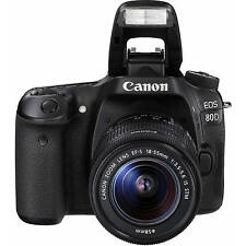 Sale Canon Eos 80D 24.2 Mp Dslr Camera Kit w/ Ef-s Is Stm 18-55mm Lens 1263C005