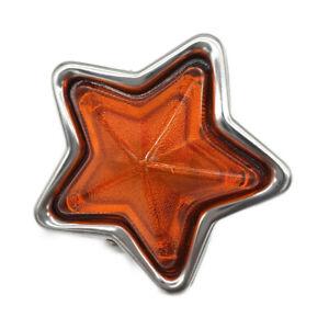 JDM Orange Star-Shaped Indicator Marker Lamps - 90mm 24V5W