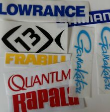 LOT of (8) Fishing Decals Fishing Stickers for Brand Lovers