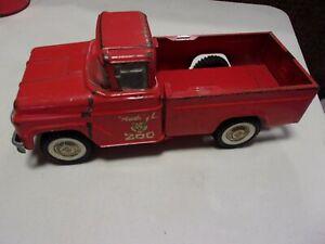Vintage Buddy L Traveling Zoo Truck Pressed Steel Toy