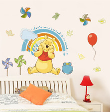 Disney Winnie Pooh Wall Stickers Bear And Jar Of Honey Cartoon Animals 40x60cm