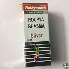 BAIDYANATH ROUPYA BHASMA SILVER 2.5 GMS, 100% INDIAN HERBAL REMEDY