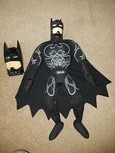 """BATMAN FOREVER Vintage 13"""" Plush  Figure &mini Playset Inc BATMOBILE  1995"""
