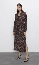 *Sold Out Size* Zara Printed Shirt Dress L (equiv 12/14) New With Tags