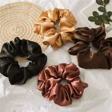1PC Satin Silk Solid Color Hair Tie Elastic Scrunchie Ponytail Holder Hair Rope
