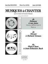 Level Musiques A Chanter Cycle 2 Niv Moy Vol 6 Voice Learn to Play MUSIC BOOK