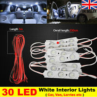 Interior LED Lights 30 LED White For Car Van Lorries Waterproof Car Light Kit