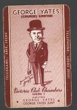 Playing Swap Cards 1 VINT  CIGAR  SMOKING GEORGE YATES  ARTIST SIGNED W511