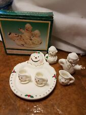 Jade Collection 10 Pc Mini Snowman Tea Set (Bin #51)
