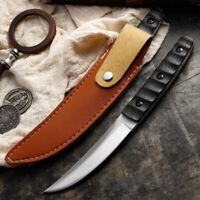 Handmade JAPANES Mini Katana SAMURAI Knife STEEL Fixed Blade NINJA TANTO Forged