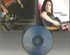 MICHELLE BRANCH All You Wanted PROMO Radio DJ CD Single 2001 USA MINT 100785