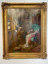 Großes Gemälde von derKünstlerin Stefanie von Trautweiller Öl auf Karton