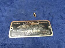 Edison C 150 Disc Phonograph Model - Serial Number Badge (#5961)
