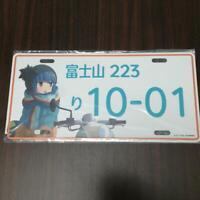 Yuru Camp License Plate Style Aluminum Plate Rin Shima ver. From Japan