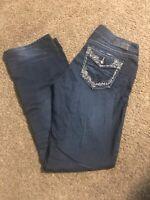 Silver Jeans Suki Super Stretch Womens 29x31 Dark Wash Mid Slim Bootcut