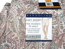 Bandolino Amy Short Modern Fit Creamstone Paisley Print Womens Size 12