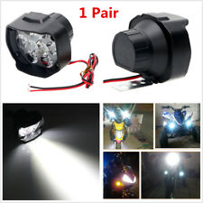 2Pcs 30W 18LED 3000LM 6500K White Motorcycle Headlight Spot Fog Lamp with Switch