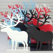 1Pair Deer Style Metal Bookends  Creative Crafts Book Stand  Home Offce Decor