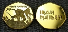 Iron Maiden Gold plated souvenir 'The Trooper' Artwork  50p collectors.Coin Hunt