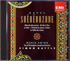 Simon RATTLE: RAVEL Sheherazade Ma Mere l'Oye La Valse Fanfare MARIA EWING CD