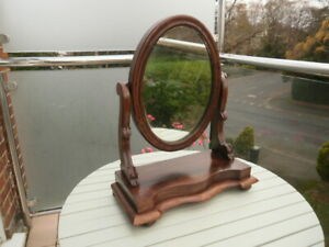 VICTORIAN OVAL SWIVEL DRESSING TABLE MIRROR