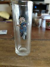 "4"" Tall Shooter Shot Glass ""BETTY BOOP"" Riding Motorcycle Glass"
