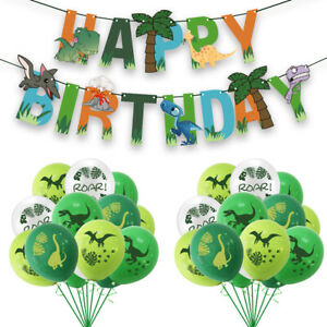 Dinosaur Banner Balloons Birthday Party Set Decoration