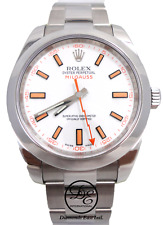Rolex Milgauss 116400 Oyster Perpetual Steel White Dial PAPERS *MINT CONDITION*