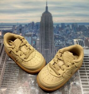 Nike Air Force 1 LV8 Low Suede Mushroom TD Toddler Size 6c 874360 205 New