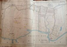 1898 Orig Staten Island Prince Bay Mt. Lorretto Red Bank E. Robinnson Atlas Map
