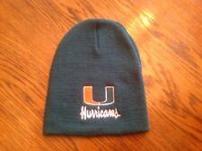 NCAA Miami Hurricanes Green Knit Beanie Hat