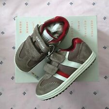 Geox Kids' Boys' Vita 31 Beige/Brick Mesh Suede Sneaker Size 8.5 Toddler NEW