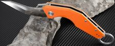 Artisan Cutlery Cobra Folding Pocket Knife 2.99 D2 Steel Blade Orange G10 Handle