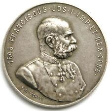 "Silbermedaille 1898, Franz Joseph I. ""Vivat Imperator"" Sign. Marschall"